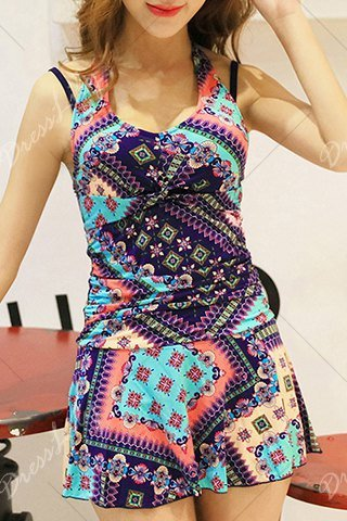 patterned shorts one piece_85086