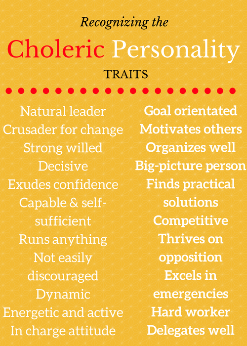 Positive Choleric Traits