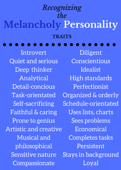 Positive Melancholy Traits