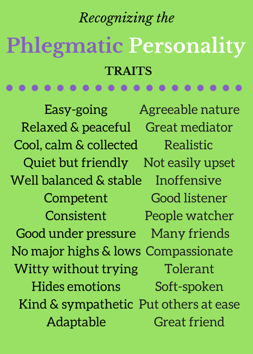 Good traits Phlegmatic