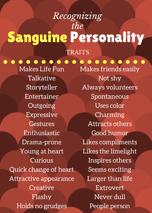 What is Sanguine: The Entertaining Life and Soul of the Party