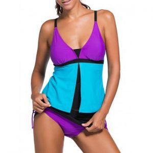 Block color tankini